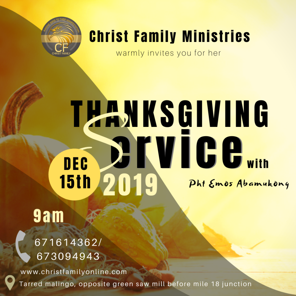 Annual Thanksgiving Service 2019